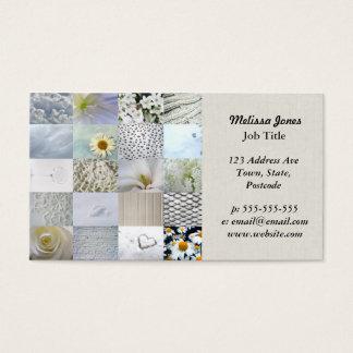 Cartão De Visitas Colagem branca da fotografia