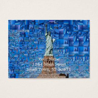 Cartão De Visitas colagem da estátua da liberdade - arte da estátua