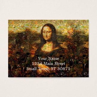 Cartão De Visitas colagem de Mona lisa - mosaico de Mona lisa - Mona