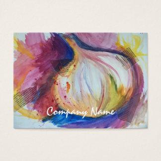 Cartão De Visitas Colagem do retrato do alho que pinta artística