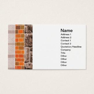 Cartão De Visitas colagem do tijolo ou da pedra