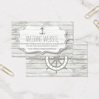 Cartão De Visitas Coleção de madeira Whitewashed náutica do