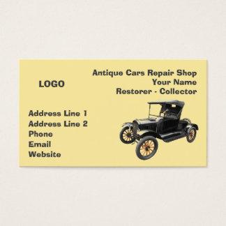 Cartão De Visitas Coletor 2 da oficina de reparações dos carros