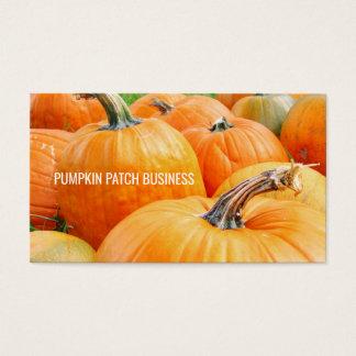 Cartão De Visitas Colheita do outono das abóboras do remendo da