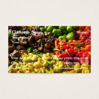 Cartão De Visitas Colheita dos pimentões