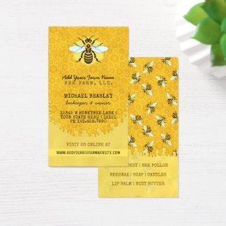 Cartão De Visitas Colmeia do favo de mel das abelhas da fazenda da