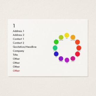 Cartão De Visitas colorwheel, 1, endereço 1, endereço 2, contato 1,…