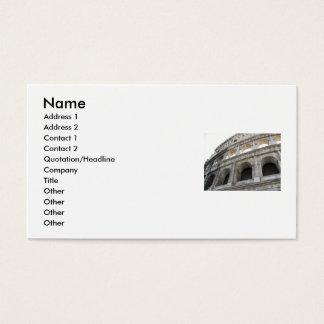 Cartão De Visitas Colosseum romano Colosseum