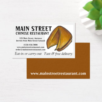 Cartão De Visitas Comensal chinês do cozinheiro chefe da comida do