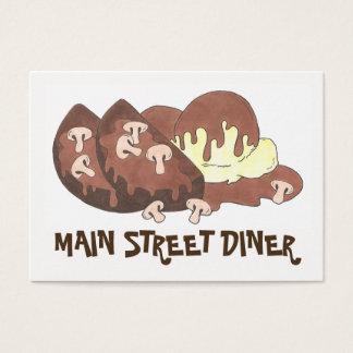 Cartão De Visitas Comensal da comida do restaurante das batatas de