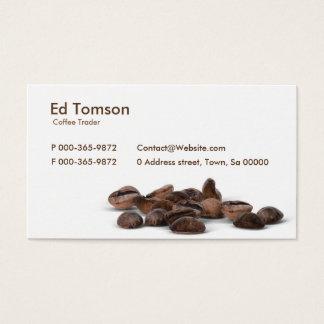 Cartão De Visitas Comerciante dos feijões de café