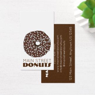 Cartão De Visitas Comida das rosquinhas da loja de filhós da