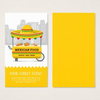 Cartão De Visitas Comida do mexicano da rua da comida