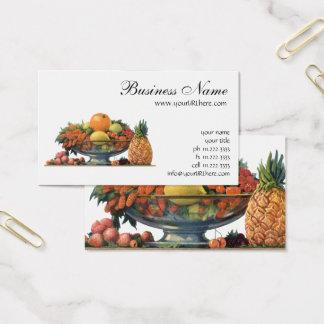 Cartão De Visitas Comida do vintage, fruta Assorted em uma bacia