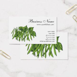 Cartão De Visitas Comida do vintage, vegetais orgânicos dos feijões