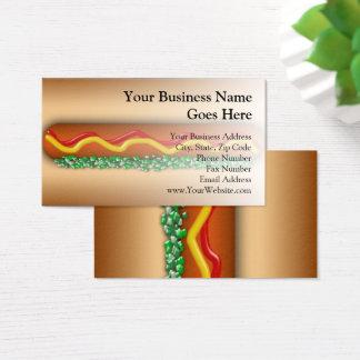 Cartão De Visitas Comida gráfica do restaurante do Vending do