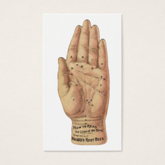 Cartão De Visitas Como ler as palmas