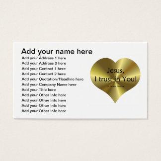 """Cartão De Visitas Compaixão divino - """"Jesus que eu confio em você """""""