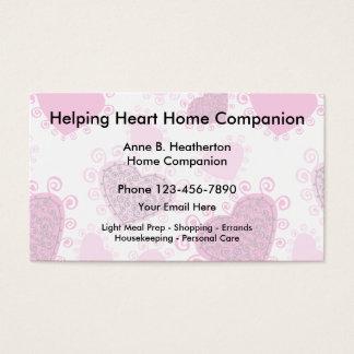 Cartão De Visitas Companheiro da assistência ao domicílio