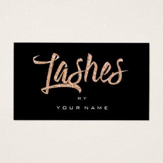 Cartão De Visitas Composição de Typograph do preto do ouro do rosa