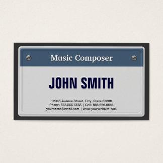 Cartão De Visitas Compositor da música - matrícula legal do carro