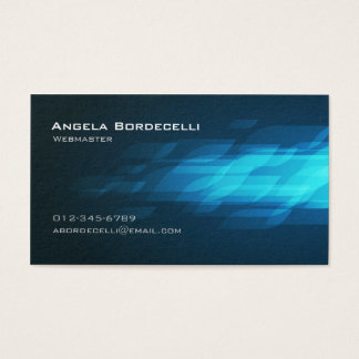Cartão De Visitas Computador InternetTechnical BlueFlashback do