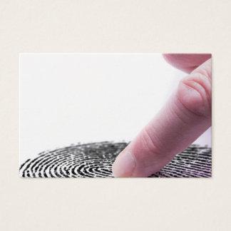 Cartão De Visitas Conceito da impressão digital de Digitas para a