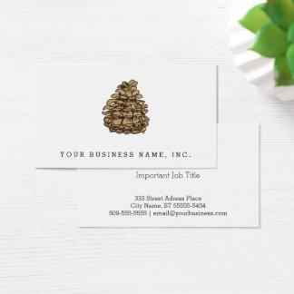 Cartão De Visitas Cone do pinho (Ponderosa)