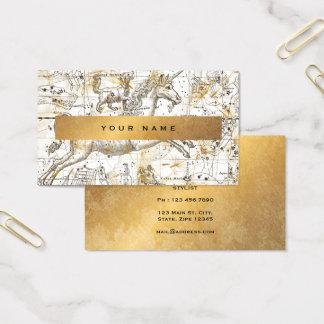 Cartão De Visitas Confetes sujos Vip do dente-de-leão do ouro branco
