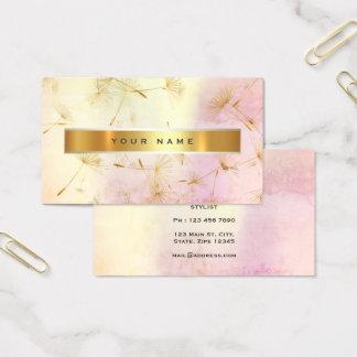 Cartão De Visitas Confetes sujos Vip do dente-de-leão do ouro do