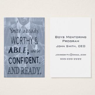 Cartão De Visitas Confiança do homem negro