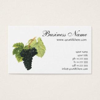 Cartão De Visitas Conjunto orgânico da uva do vinho tinto do