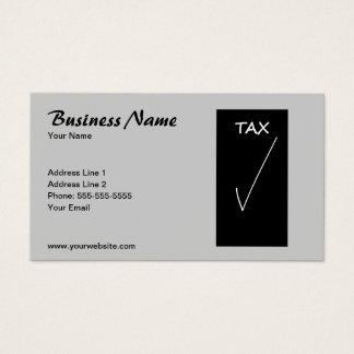 Cartão De Visitas Conselheiro de imposto cinzento simples