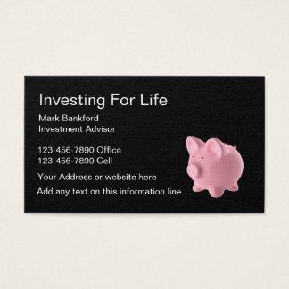 Cartão De Visitas Conselheiro de investimento
