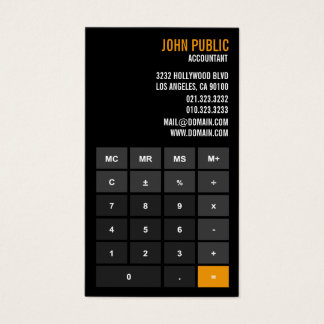Cartão De Visitas Conselheiro financeiro da calculadora do contador