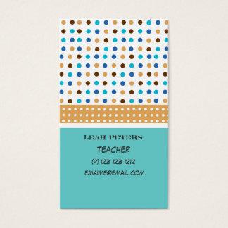 Cartão De Visitas Conselheiro geométrico do professor bonito e