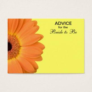 Cartão De Visitas Conselho alaranjado & amarelo da margarida de