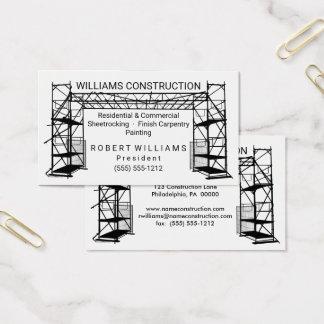 Cartão De Visitas Construção branca da pintura   do preto   do