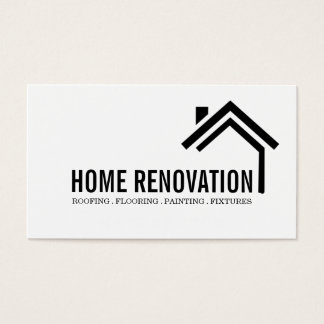 Cartão De Visitas Construção de remodelação Home da renovação da