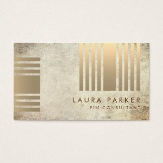 Cartão De Visitas Construção geométrica da finança do ouro de