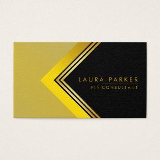 Cartão De Visitas Construção geométrica da finança do ouro preto