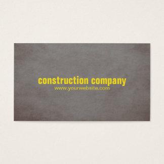 Cartão De Visitas Construção moderna do amarelo da pedra da textura