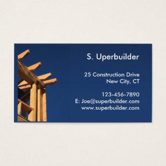 Cartão De Visitas Construção nova do quadro do telhado