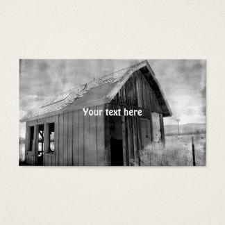 Cartão De Visitas Construção velha da barraca, demolição,