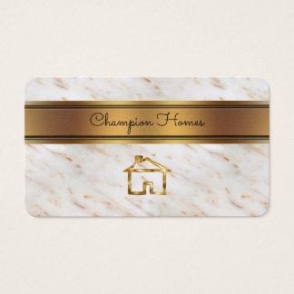 Cartão De Visitas Construtor de casas elegante