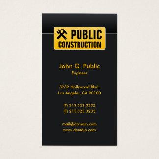 Cartão De Visitas Construtores de casas pretos incorporados