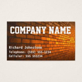 Cartão De Visitas Construtores do pedreiro ou do pedreiro