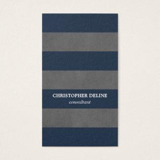 Cartão De Visitas Consultante azul cinzento da textura elegante