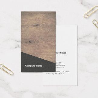 Cartão De Visitas Consultante cinzento de madeira elegante moderno