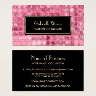 Cartão De Visitas Consultante de forma cor-de-rosa chamativo do